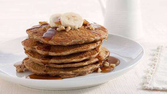Stack of Chocolate Banana Pancakes